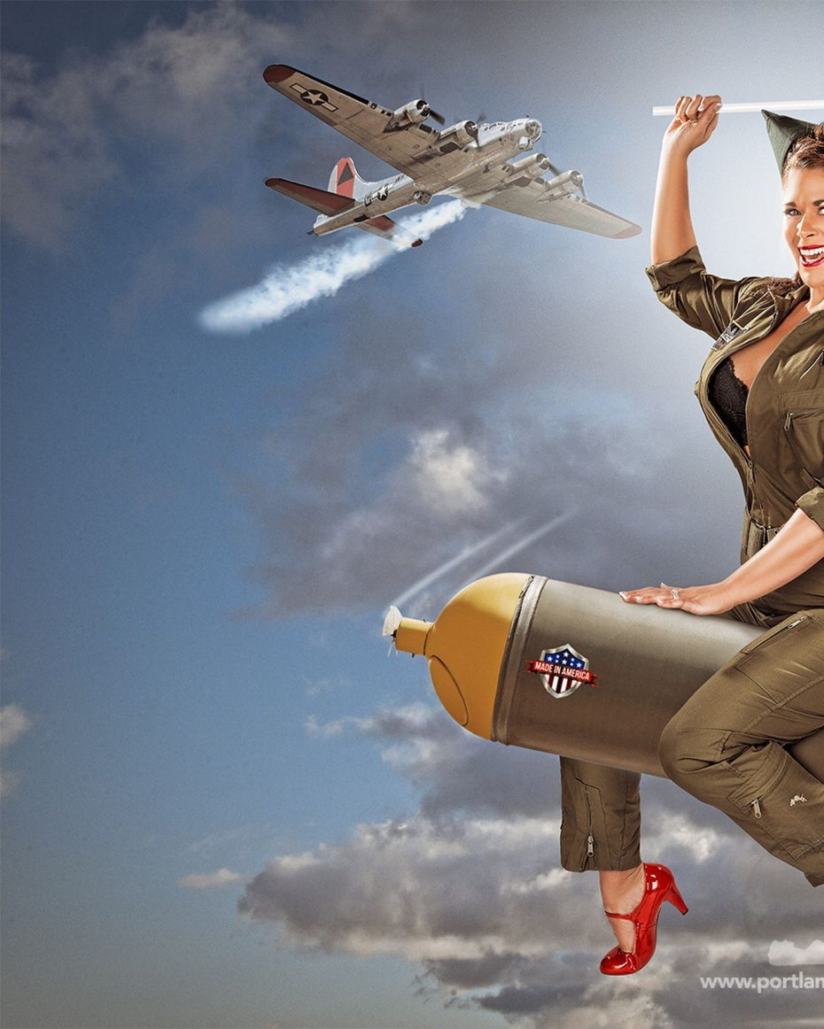 BOMBS AWAY!Some WWII fun with our past client, Heather. Do the swipey swipe for the full shot…At Portland Pin-Ups, we believe that EVERY woman is a bombshell, and we love our clients!  We appreciate that visiting a professional photographer is rare these days and thank you for choosing us to capture your beauty.Professional hair styling, make-up artistry, lighting, 20 years of posing experience and industry leading retouching...the Portland Pin-Ups Magic. It's why you don't go to the guy who got a camera for Christmas….For curious photographers:Nikon D810 with 50mm 1.4G. Lights by ProPhoto.  Very mild massaging using Photoshop and  25 years of experience.#pinup #portlandphotographer #pinupclothing #pinupart #classicpinup #pinupmakeover  #pinupgirl  #beauty #picoftheday #nikon #nikonprofessional  #photooftheday  #wwii