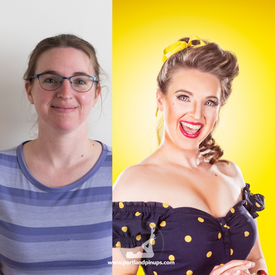 Pin-up makeover beauty photography portland oregon