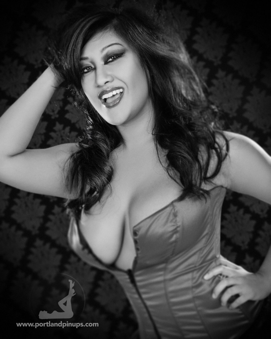 FRIDAY VIBES…It's Friday! Let's all head out and party. Oh wait…can't do that…Here's a portrait of the lovely Satheara in a corset instead!At Portland Pin-Ups, we believe that EVERY woman is a bombshell, and we love our clients!  We appreciate that visiting a professional photographer is rare these days and thank you for choosing us to capture your beauty.Professional hair styling, make-up artistry, lighting, 20 years of posing experience and industry leading retouching...the Portland Pin-Ups Magic. It's why you don't go to the guy who got a camera for Christmas….For curious photographers:Cameras by Nikon. Lights by Photogenic / Paul C Buff. Posing and artwork by 25 years of experience...