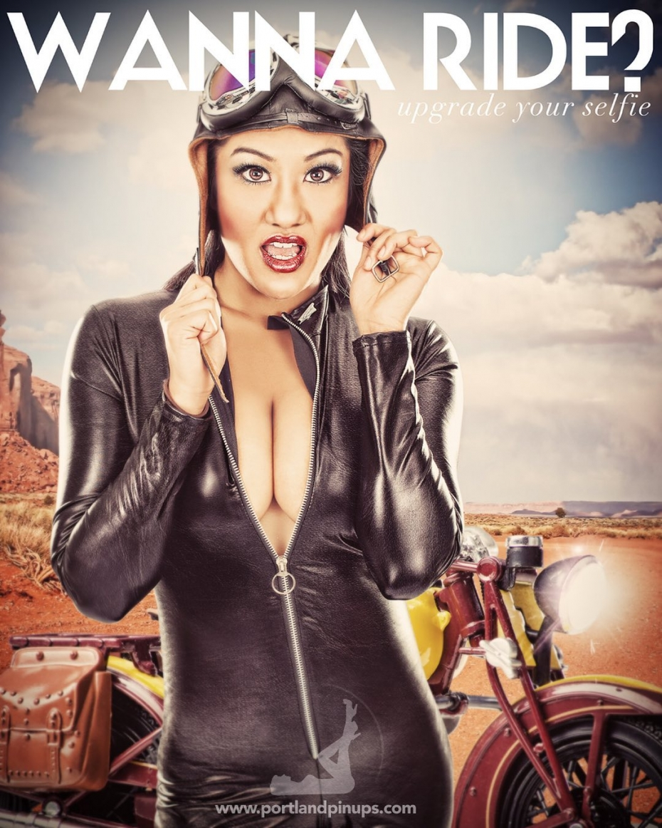 WANNA RIDE?Professional hair styling, make-up artistry, lighting, 20 years of posing experience and industry leading retouching...the Portland Pin-Ups Magic. It's why you don't go to the guy who got a camera for Christmas….For curious photographers:Cameras by Nikon. Lights by Photogenic / Paul C Buff. Posing and artwork by 25 years of experience....