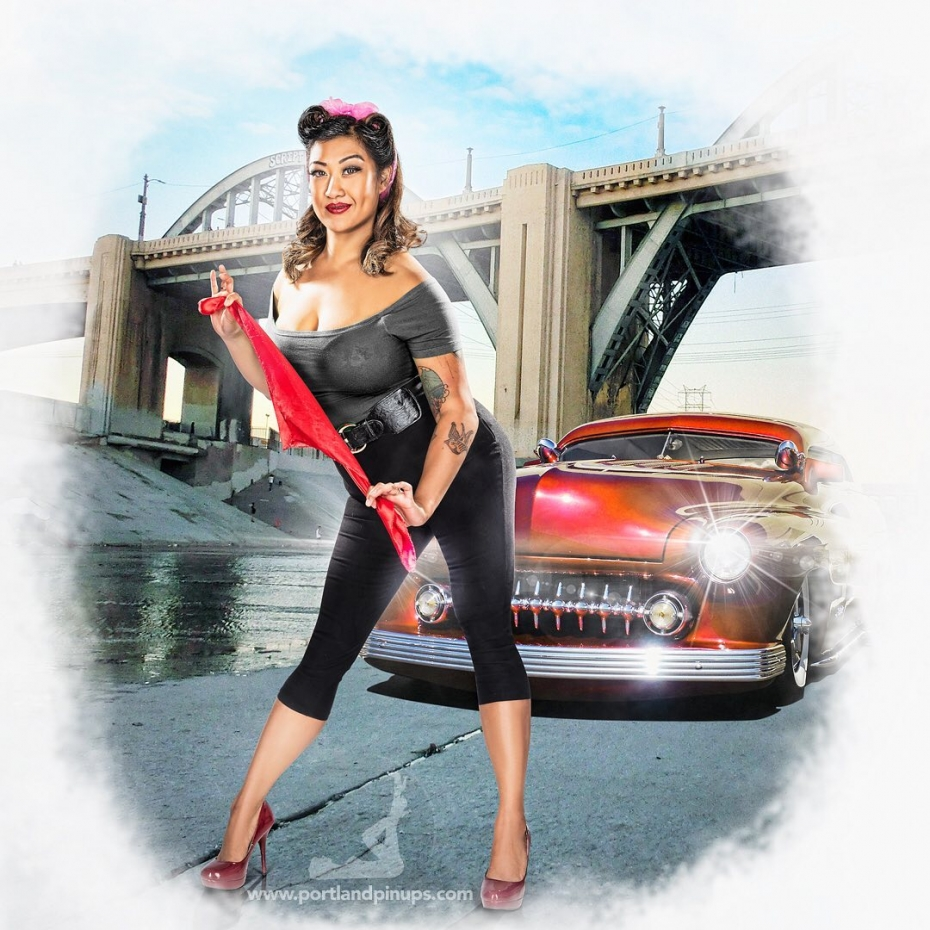 THUNDER ROAD...She's ready to start your engine...Professional hair styling, make-up artistry, lighting, 20 years of posing experience and industry leading retouching...the Portland Pin-Ups Magic. It's why you don't go to the guy who got a camera for Christmas….For curious photographers:Cameras by Nikon. Lights by Photogenic / Paul C Buff. Posing and artwork by 25 years of experience....