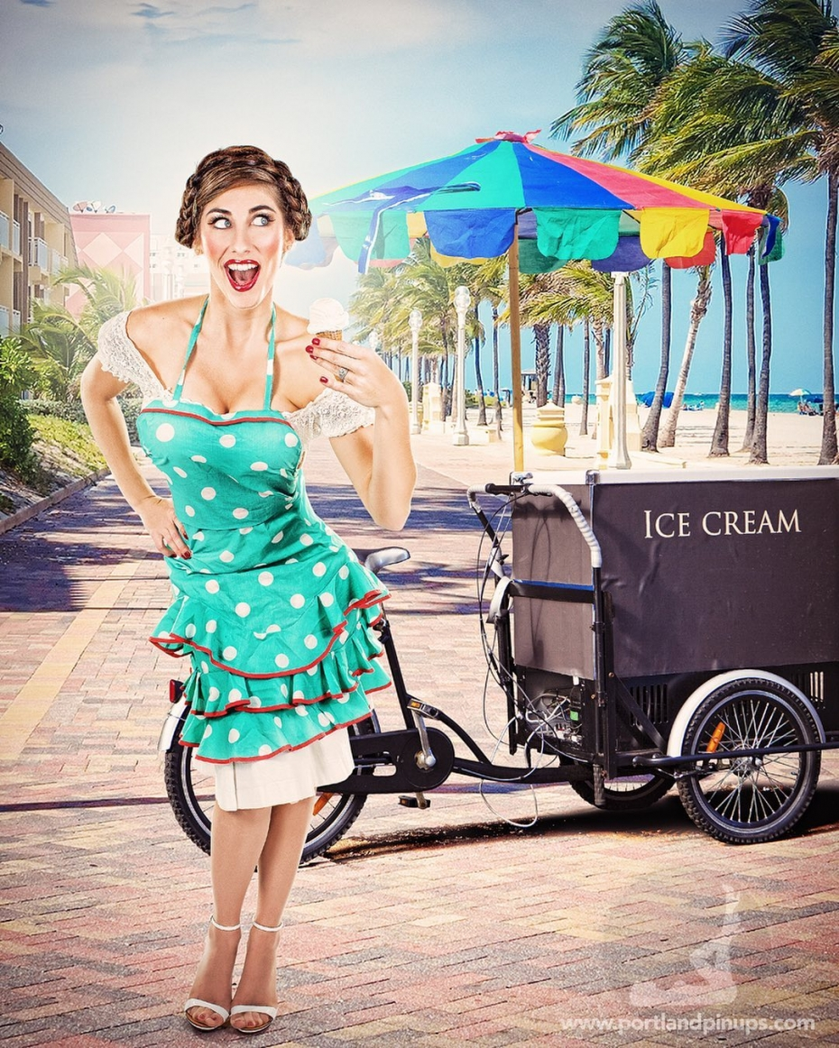 One scoop or two?#portland #pinups #photography #photographer #icecreamcone
