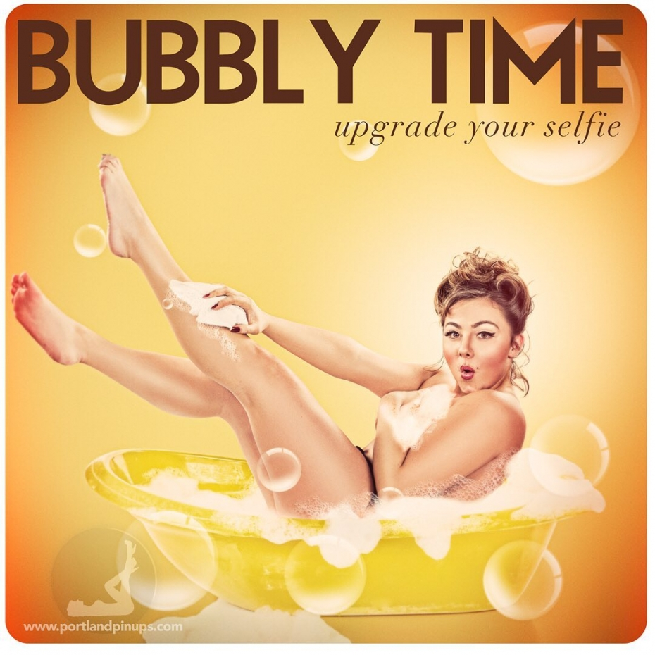 BUBBLY TIMEHandbag from Gucci? Diamond ring? Sporty convertible? There are many ways to treat yourself…but only ONE Portland Pin-Ups.Go on…Upgrade YOUR selfie…www.portlandpinups.com