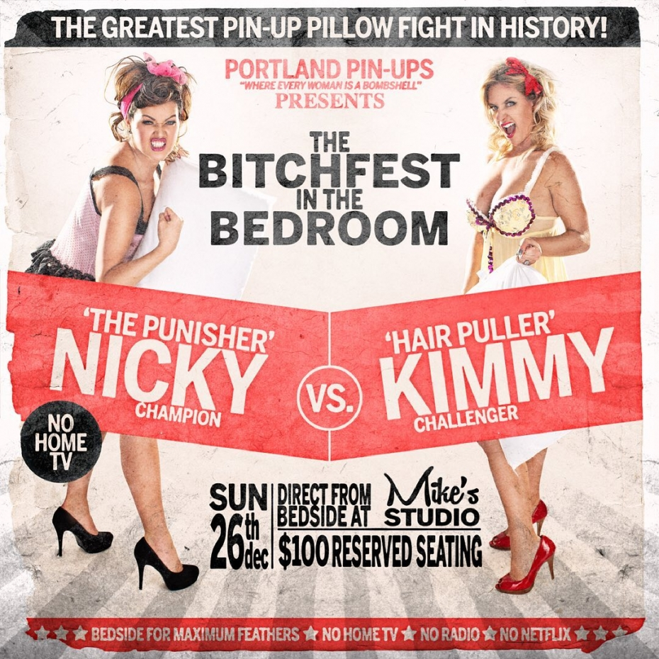 #throwbackthursday - The Bitchfest In the Bedroom!Fun fact of the day….Nicky and Kim, didn't know each other before they became Portland Pin-Ups BombsheIIs, but then they because best friends! Sadly, our original Blonde BombsheII kim moved away to Bend a couple of years ago, but she will be back for another session….at some point….. :)#pillowfight #pinupart #saucy #pinupgirl #pinupphotographer #portlandphotographer