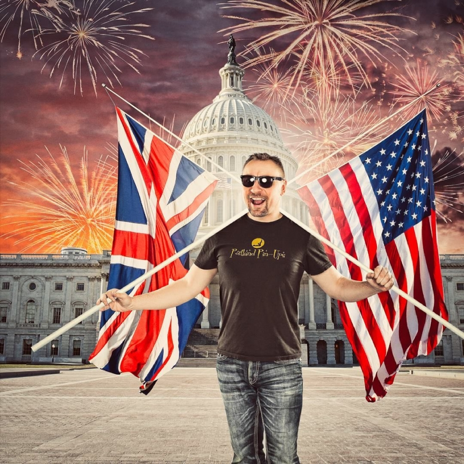 """It's officially July 4th, but as I'm only just now heading to bed, for me it's still July 3rd. Why does that matter? Well, 9 years ago today, July 3rd 2012, I stood in the Immigration building in Portland, recited The Pledge of Allegiance and became a naturalized citizen of The United States Of America.I'll never not be English. I was born there, I lived there for 33 years and it's in my DNA, but from my very first memories I knew one day, I'd end up here. In America. I LOVE this country and the people that call this place home.What I cannot stand, is the way that we are being pulled apart by the media, the constant division that we are supposed to """"feel"""" and the simple fact that displaying a Stars and Strips flag has been made to be political in some way.I say...""""BOLLOCKS"""". The American flag reprisets all that is good about this amazing country - the wonderful and diverse people, the ever changing geography and the always bonkers weather. The rest of the world probably thinks that most Americans are fat and lazy, and sure, there are plenty of those, just like any other country, but most of the wonderful people I've met here are harder working, more health conscious and polite than any other place I've ever been.So...As you celebrate America parting ways with my country of birth tomorrow, and beginning a new chapter in world history, raise a glass, a can or a bottle to past, to the present, and to our future. Stop all the bickering, and let's just get on with it. America the Beautiful."""
