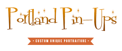 Portland Pin Ups  – specializing in 1950's style pin-up portraits, in Portland, Oregon logo